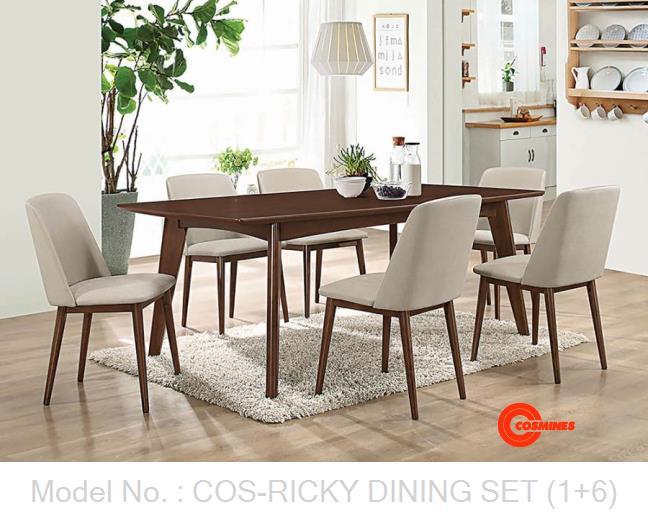COS-RICKY DINING SET (1+6)
